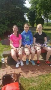 A Juniorinnen von li. nach re. Julia, Wiebke und Nina