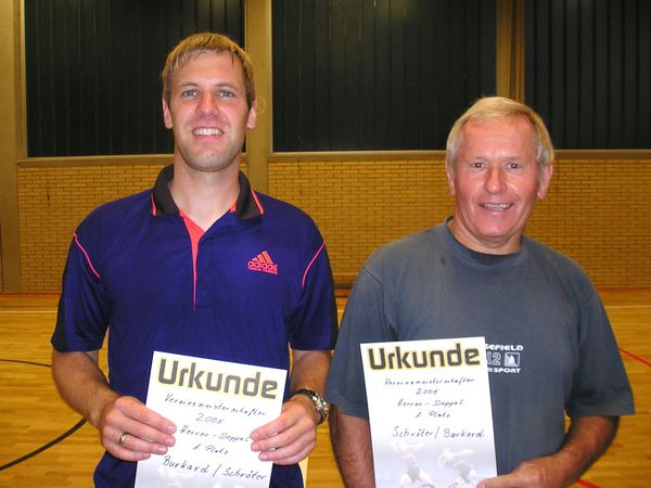 Doppelvereinsmeister 2005 Arne Burkard/Wolfgang Schröter