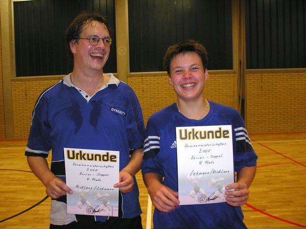 4. Platz Wolfgang Nicklaus/Felix Lehmann