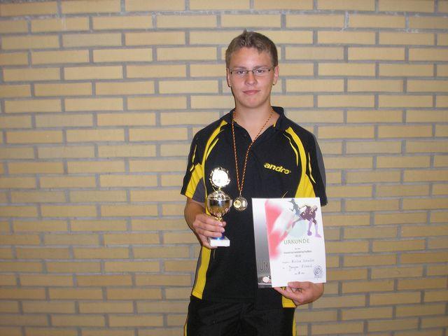 Niclas Schulze Vereinsmeister Einzel
